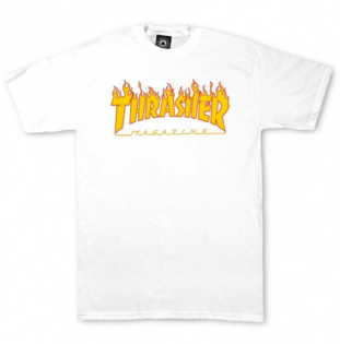 Camiseta Thrasher: FLAME (WHITE)  - 1