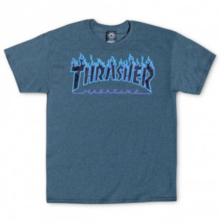 Camiseta Thrasher: FLAME (DARK HEATHER)  - 1