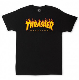 Camiseta Thrasher: FLAME (BLACK)  - 1