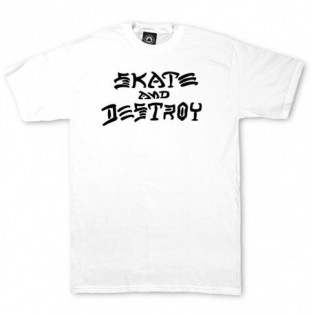 Camiseta Thrasher: SKATE AND DESTROY (WHITE)  - 1