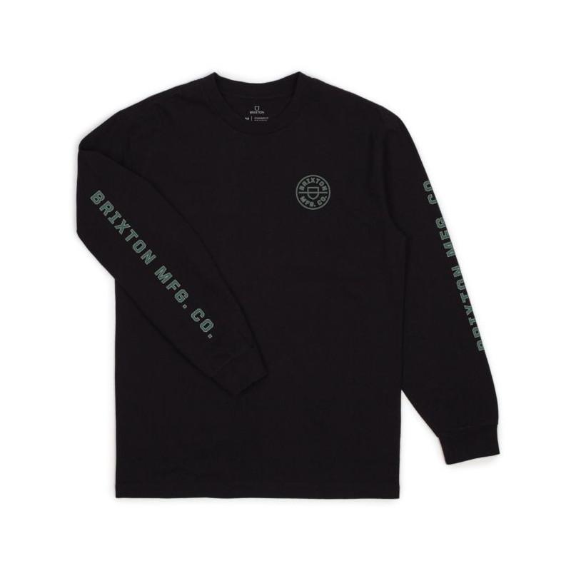 Camiseta Brixton: CREST LS STT (BLACK)