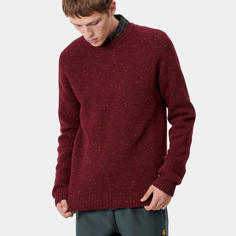 Jersey Carhartt: Anglistic Sweater (Bordeaux Heather)