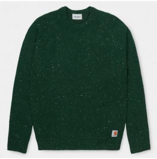 Jersey Carhartt: Anglistic Sweater (Bottle Green Heather) Carhartt - 1