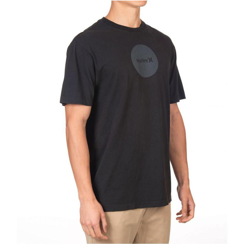 Camiseta Hurley: BOXY OAO DOTTED SS (DK SMOKE GREY)