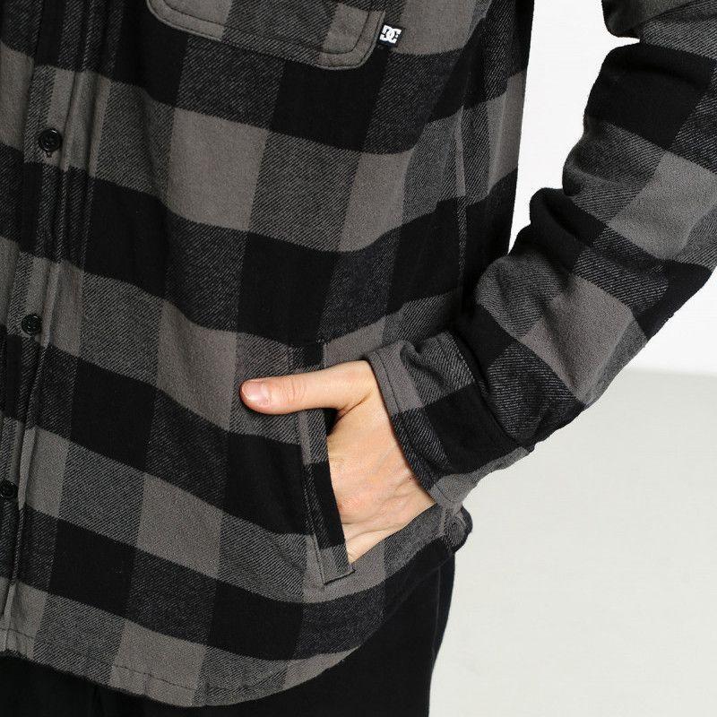 Camisa DC Shoes: LANDFILLED LS (PEWTER)