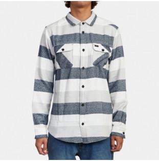 Camisa RVCA: SHALLOWS STRIPE FLAN (MIRAGE) RVCA - 1