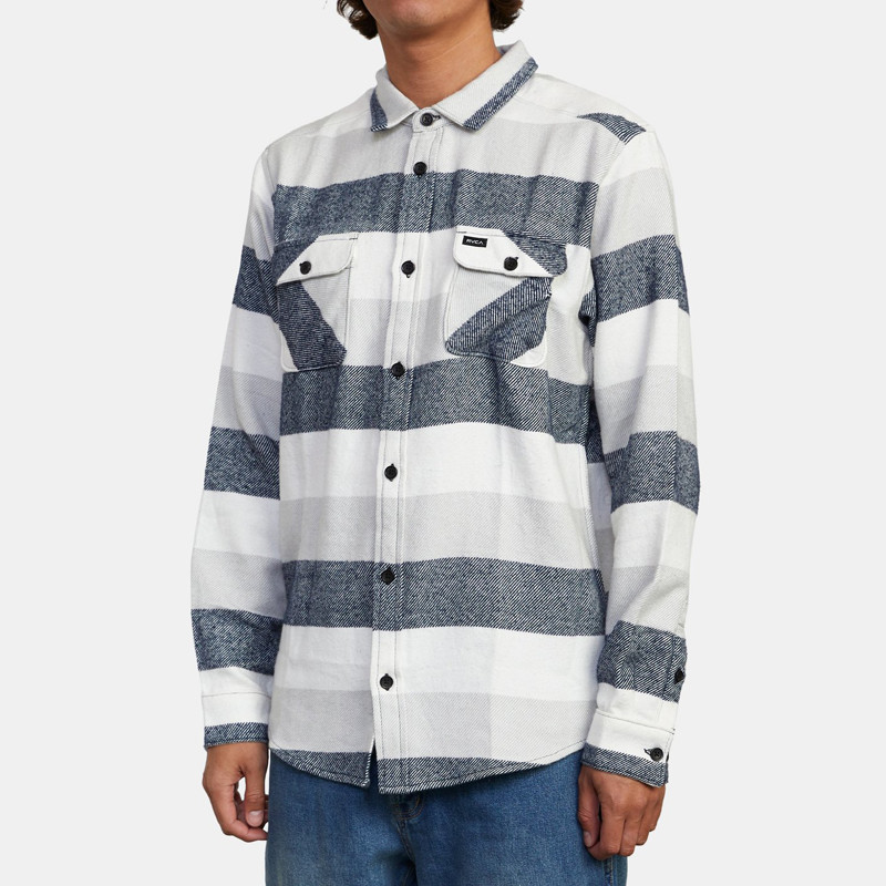 Camisa RVCA: SHALLOWS STRIPE FLAN (MIRAGE)