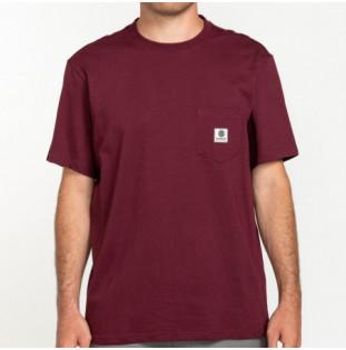 Camiseta Element: BASIC POCKET LABEL S (VINTAGE RED) Element - 1