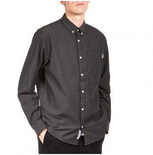 Camisa Carhartt: LS Dalton Shirt (Black Husky heavy rinsed)