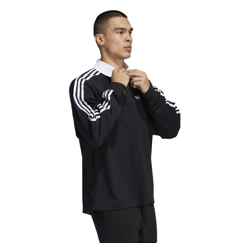 Sudadera Adidas: Solid Rugby (Black White)