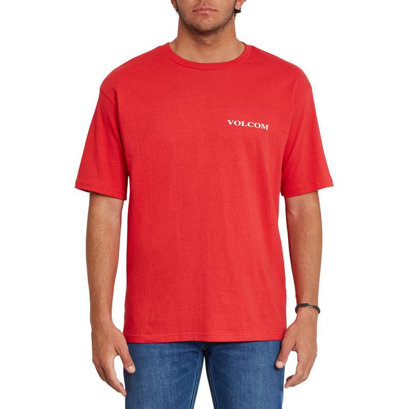 Camiseta Volcom: Volcom Stone LSe SS (Carmine Red)