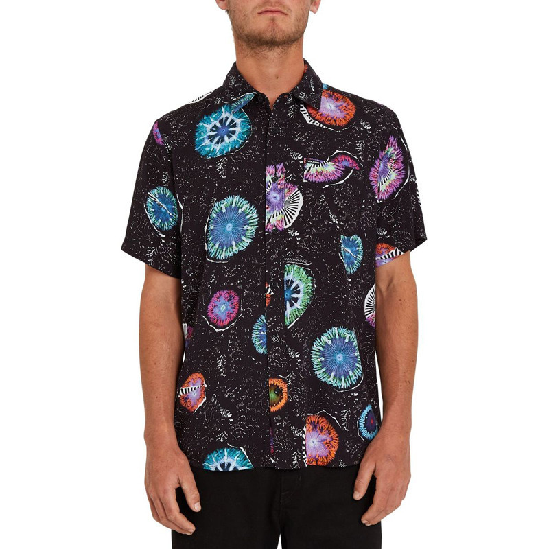 Camisa Volcom: Coral Morph SS (Black)