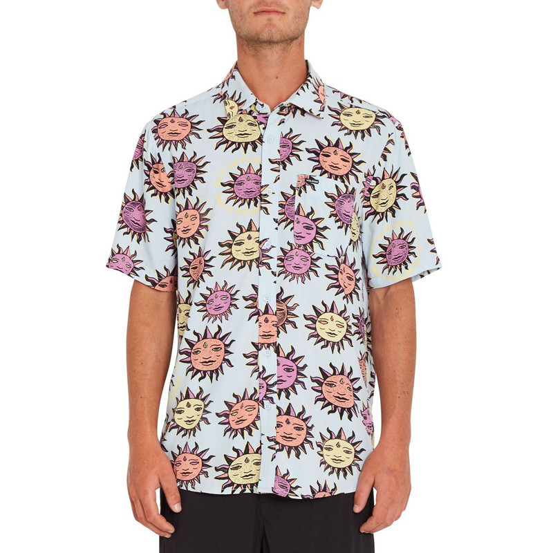 Camisa Volcom: Ozzy Sun SS (Aether Blue)