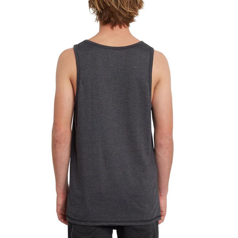 Camiseta Volcom: Circle Blanks Hth Tt (Heather Black)