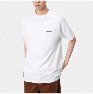 Camiseta Carhartt: SS Script Embroidery TShirt (White Black) Carhartt - 1