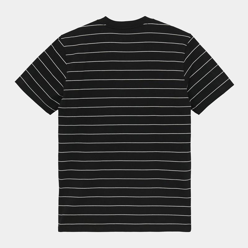 Camiseta Carhartt: SS Denton TShirt (Denton Stripe Black Wax)