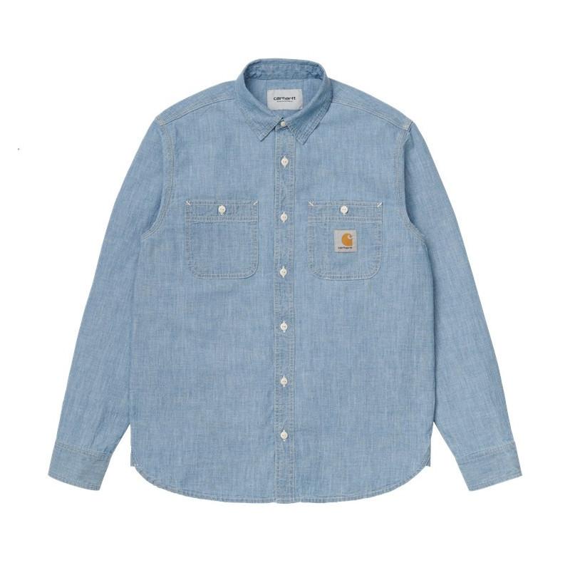 Camisa Carhartt: LS Clink Shirt (Blue)