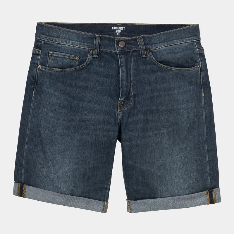 Bermuda Carhartt: Swell Short (Blue Dark Worn Wash)