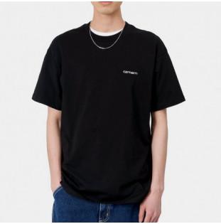 Camiseta Carhartt: SS Script Embroidery TShirt (Black White) Carhartt - 1