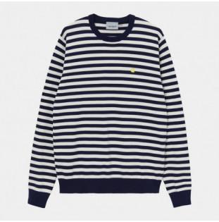 Jersey Carhartt: Scotty Sweater (Sct Stripe Dark Navy Wax) Carhartt - 1