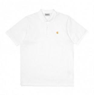 Polo Carhartt: SS Chase Pique Polo (White Gold) Carhartt - 1