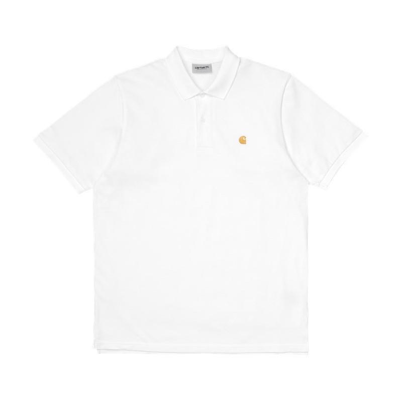 Polo Carhartt: SS Chase Pique Polo (White Gold)