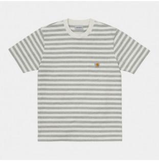 Camiseta Carhartt: SS Scotty Pocket TShirt (Stp Wt Ht Gry Ht) Carhartt - 1