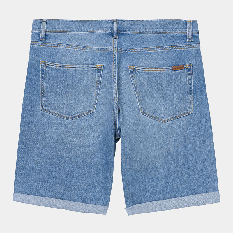 Bermuda Carhartt: Swell Short (Blue Worn Bleached)