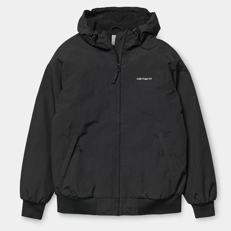 Chaqueta Carhartt: Hooded Sail Jacket (Black White)