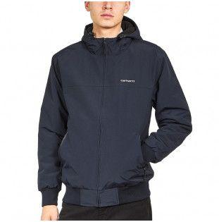 Chaqueta Carhartt: Hooded Sail Jacket (Dark Navy White) 1
