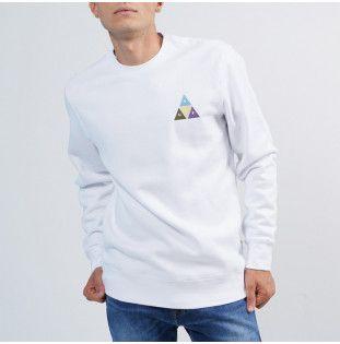 Sudadera HUF: PRISM TRAIL CREWNECK (WHITE) HUF - 1