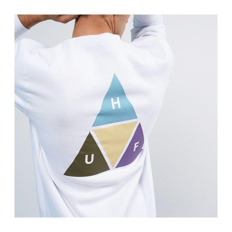 Sudadera HUF: PRISM TRAIL CREWNECK (WHITE)