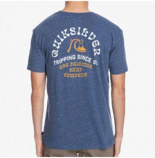 Camiseta Quiksilver: Foreign Tides SS (Sargasso Sea Heather) Quiksilver - 1