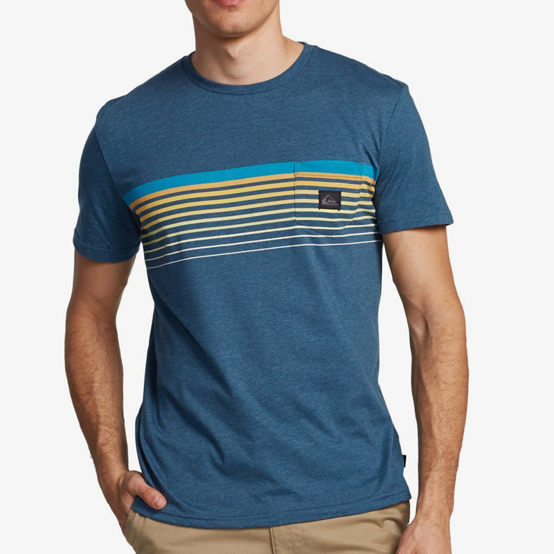 Camiseta Quiksilver: Slab Pocket Tee (Majolica Blue Heather)