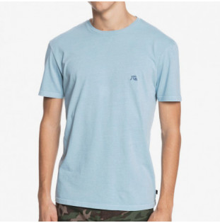 Camiseta Quiksilver: Basic Bubble Embroidery SS (Blue Heaven) Quiksilver - 1