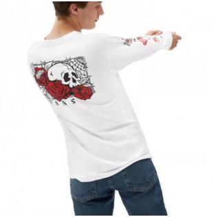 Camiseta Vans: Mn Rose Bed  LS (White) Vans - 1
