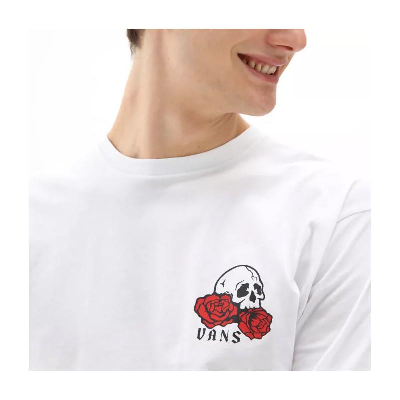 Camiseta Vans: Mn Rose Bed  LS (White)