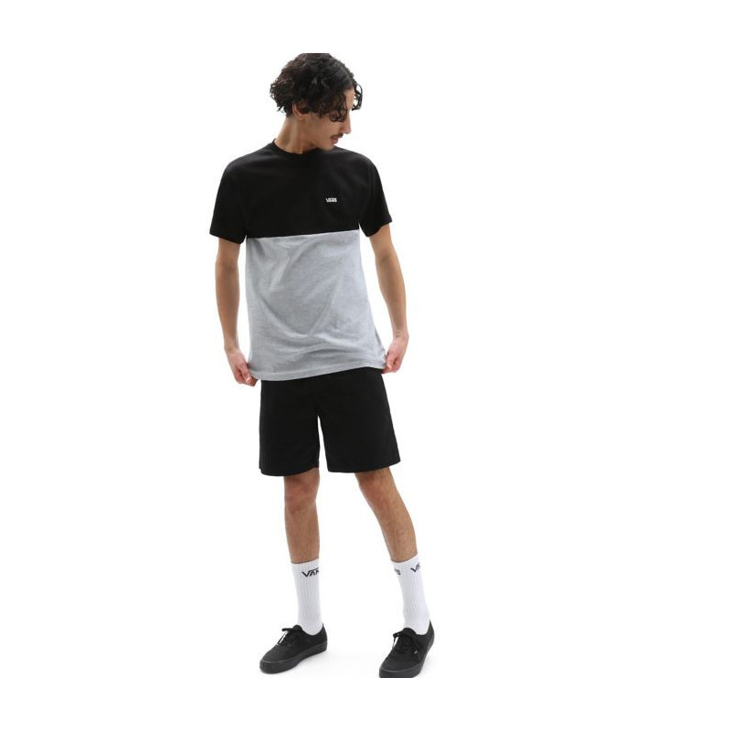 Camiseta Vans: Mn Colorblock Tee (Black Athletic Heather)