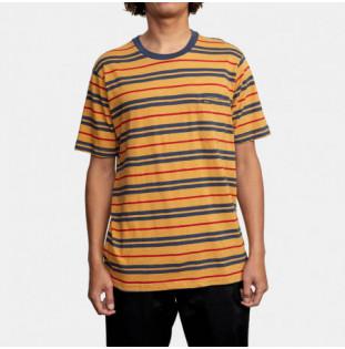Camiseta RVCA: Capistrano Stripe SS (Golden Rod) RVCA - 1