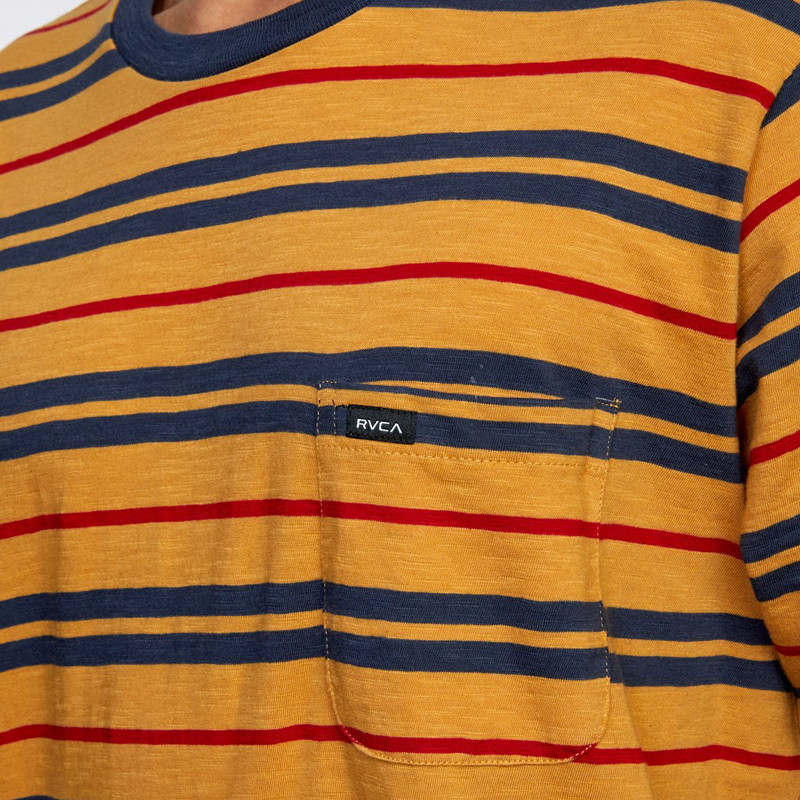 Camiseta RVCA: Capistrano Stripe SS (Golden Rod)