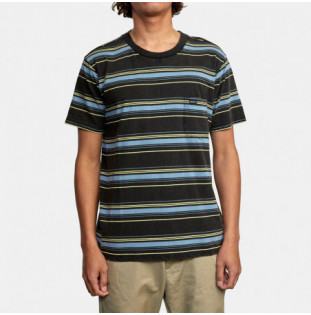Camiseta RVCA: Bez Stripe SS (Pirate Black) RVCA - 1