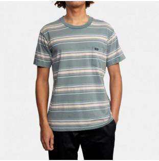 Camiseta RVCA: Bez Stripe SS (Balsam Green) RVCA - 1