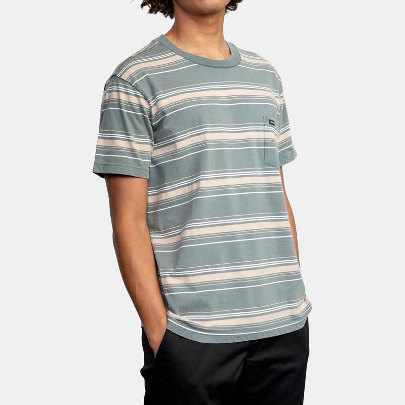 Camiseta RVCA: Bez Stripe SS (Balsam Green)