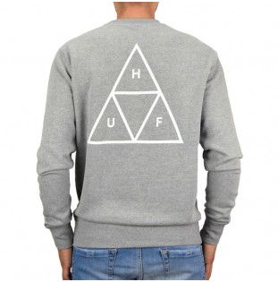 Sudadera HUF: ESSENTIALS TT CREW (GREY HEATHER) HUF - 1