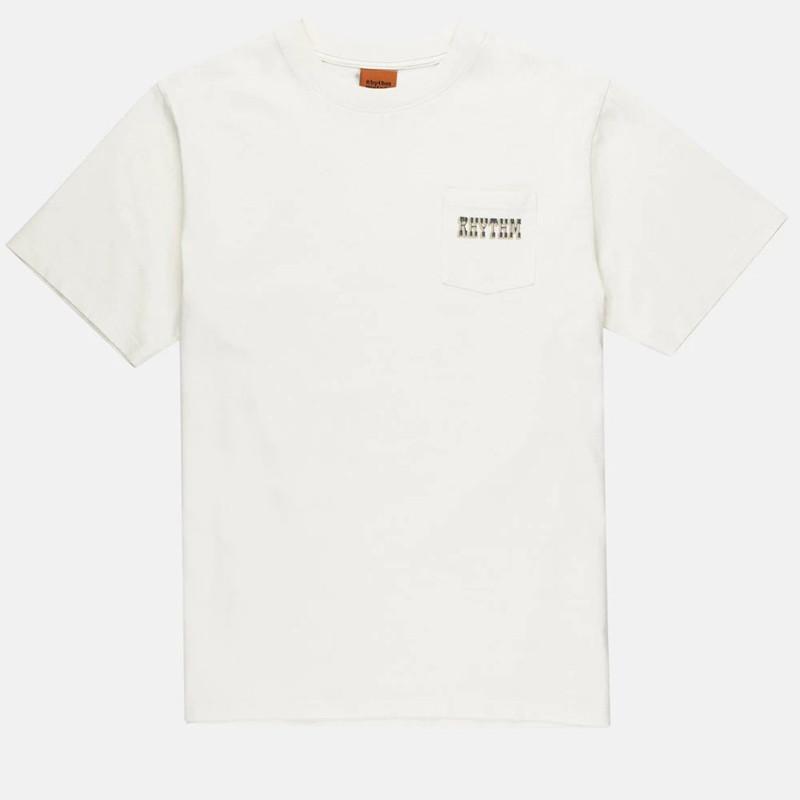 Camiseta Rhythm: Western Pocket Tee (Vintage white)