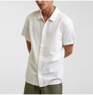 Camisa Rhythm: Classic Linen SS Shirt (Vintage white) Rhythm - 1