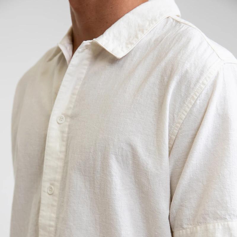 Camisa Rhythm: Classic Linen SS Shirt (Vintage white)