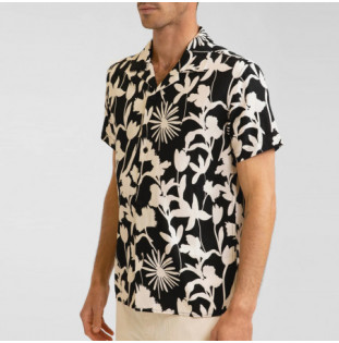 Camisa Rhythm: Melrose Linen SS Shirt (Black) Rhythm - 1