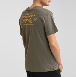 Camiseta Rhythm: Essent Sundown T-Shirt (Olive) Rhythm - 1