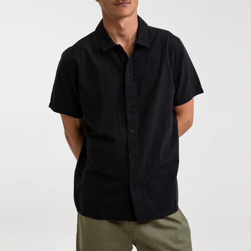 Camisa Rhythm: Classic Linen SS Shirt (Vintage black)